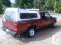 """White canopy for small truck. off 1992 Dakota. 64"""""""