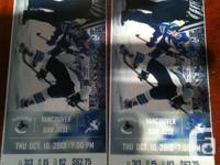 I have two tickets for tonights game.  They are below