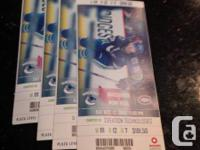 section 111, row 12 - sellingas pair for $350 or all 4