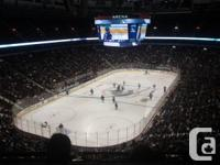 Canucks Season tickets - Section 313 Row 10 side by
