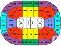 Two tickets side by side in sec102 row19 of the