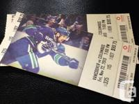 Have two tickets for Canucks vs Columbus game on