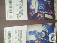 2 tickets Section 326, row 7  Alcohol allowed Hard
