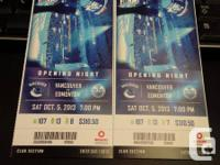 I have two hard copy Lower Bowl Tickets available