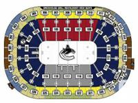 4 Hardcopy Hockey tickets to  Vancouver Canucks against