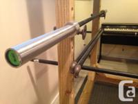 Top quality olympic barbell, barely used. Selling due