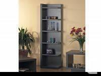 Cappuccino Hollow-Core Corner Bookcase