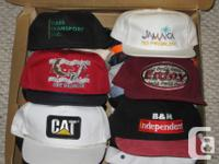 Hat collection, $3 ea or $10 for 4, a lot of to show