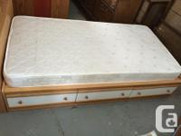 Single Captains bed with 3 drawers underneath bookcase
