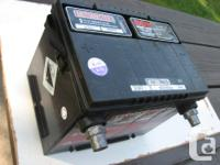 One 12 V car battery that's less than 1 year old.