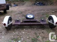 Custom built car dolly with breaks to haul either