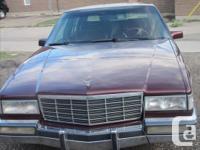 Make Cadillac Model DeVille Year 1991 Colour Burgundy