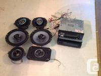 One Panasonic and one clarion car stereo decks for
