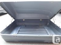 small car top carrier - measures 3 feet by 4 feet by 21