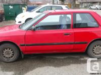1993 Mazda 2 doors, 4 cylinder, automatic, low