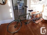 Raleigh 3 spd town bike with Xtra cycle leap cargobike