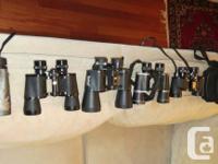 Hi,im selling few of my Binoculars,thay all have