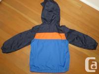 Carter's colour block fleece-lined jacket. In excellent