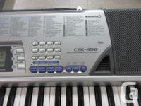 Casio CTK 496 portable keyboard 61 full size keys 100
