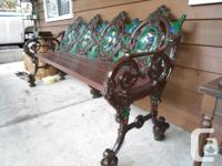 1959 cast iron bench from New Mexico. It has been sand
