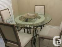 - Beautiful cast iron framework with marble and round