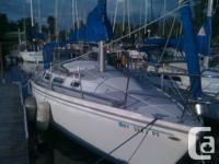 has all sails shipshape.  Atomic 4 30HP Engine. Helm