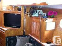 This boat is mint mint mint.  All interior teak wood