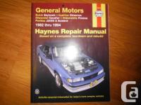 General Motors Haynes Repair work Manual covering FWD