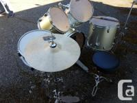 Used CB drum set in good condition with some wear. Bass
