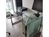 CB2 Tesso Chrome Desk in perfect condition. Sells brand