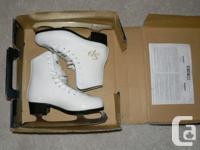 Utilized once - like new set of ladies's amount skates