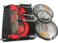 - 2-in-1 both a bike trailer and a a stroller - great