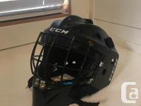CCM junior goalie mask. Used lightly for one season.
