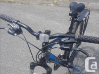This MTB shimano equipped 21 speed has a 18 inch