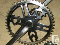 "CCM chrome crankset with 5.5""arms. bearings consisted"