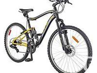 CCM Static Full-Suspension Mountain Bike features a 15""