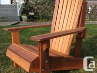 Beautifully crafted Cedar Adirondack chairs, matching