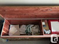 Large solid wood Cedar Chest. In excellent condition.