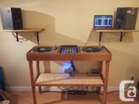 Handcrafted Cedar DJ Booth for Home, Studio or Club