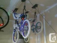"""Hang your bike "" from your ceiling...a great invention"