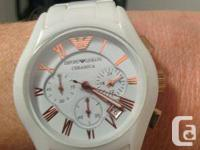 Emporio Armani Ceramica Watch. white ceramic with