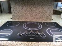 """Jennair 36"""" ceran black built in electric cooktop. 5"""