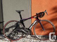 Super fast, aerodynamic road bike, Cervelo's best.