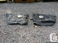 c-180 fuel tanks with covers and one fuel gague. used