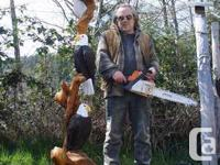 I have quite a lot of chainsaw carvings at my place on
