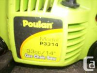 3 Poulan chain saws, all had brand-new carbohydrate