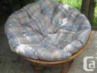Papasan chair with a cover resembles brand-new, barely