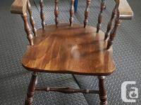 4 solid wood chairs. Originally from the Merchantman