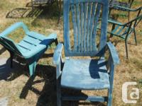 3 Lawn chairs. All in good to excellent condition. EACH
