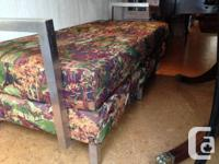 Contemporary two seater chaise or ottoman. Mint